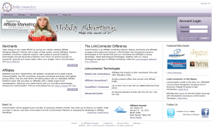Full-size LinkConnector.com home page image