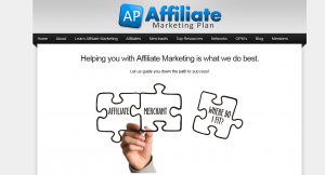 AffiliateMarketingPlan.com full-size home page image