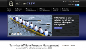 AffiliateCrew.com full-size home page image.