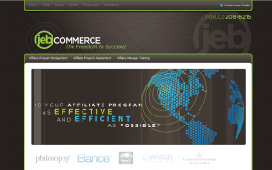 JebCommerce.com full-size home page image.