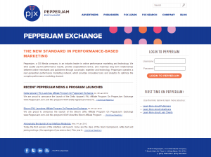 PepperJam.com full-size home page image