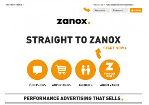 Zanox.com full-size homepage image