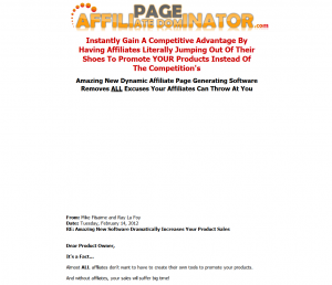 AffiliatePageDominator.com full-size home page image