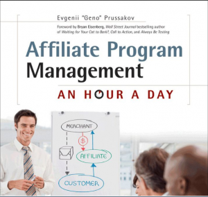 Affiliate Program Management: An Hour a Day full size front cover image