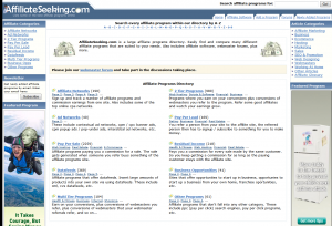 AffiliateSeeking.com full-size home page image