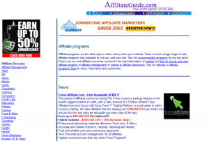affiliateguide.com full-size home page image