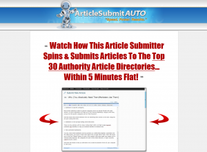 ArticleSubmit.com Article Submission Software full-size home page image