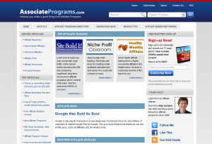 AssociatePrograms.com full-size home page image.
