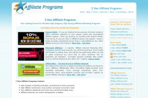 5staraffiliateprograms.com full-size home page image.