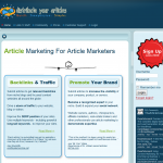 DistributeYourArticles.com Article Distribution Network home page full-size image