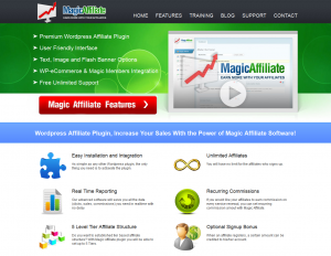 MagicAffiliatePlugin.com full-size home page image