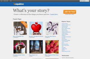 Squidoo.com full-size home page image