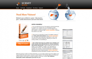 SubmitSuite.com Article Submission Software full-size home page image