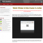 WickedArticleCreator.com Article Writing and spinning software full-size home page image