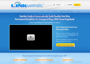 LinkVana.com Link Buidling and Article Distribution Network home page full-size image