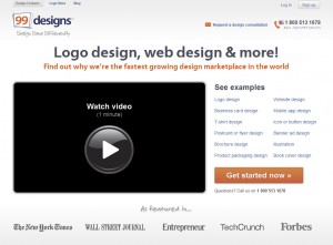 99Designs.com Banner Ad Design Services home page full size image