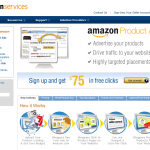 AmazonServices.com PPC Ad Serving Network home page full-size image