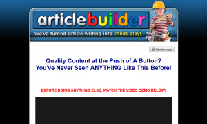 ArticleBuilder.net Article writing software home page full-size image