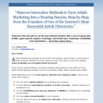 Entrepenour's Guide to Article Marketing thumbnail image