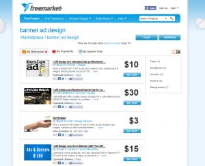 Freelancer.com freemarket banner ad design services image