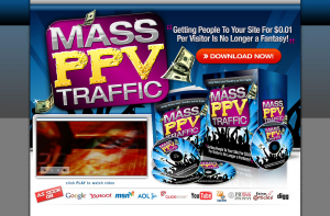 MassPPVTraffic.com PPV Advertising training course home page full-size image