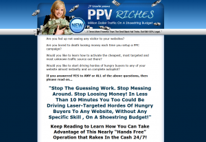 PPVriches.com PPV Advertising guide home page full-size image