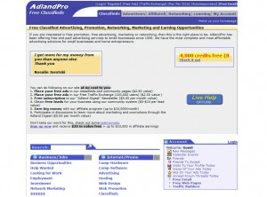 Adlandpro.com Top Classified Ad Site home page full size image