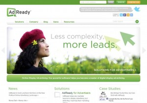 Adready.com Banner Ad Serving Networks home page full size image