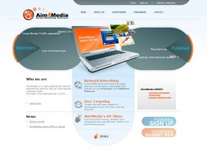 Aim4media.com Banner Ad Design Software home page full size image