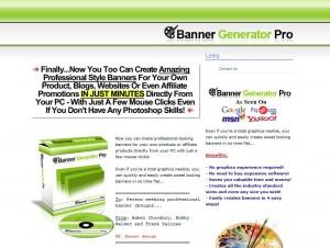 BannerGeneratorPro.biz Banner Ad Design Software home page full size image