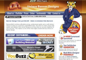 BannerMall.com Banner Ad Design Services home page full size image