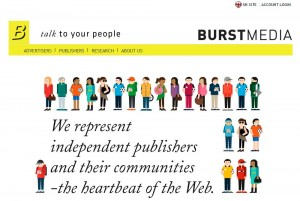 Burstmedia.com Banner Ad Serving Networks home page full size image