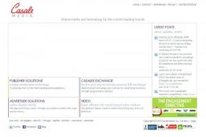 CasaleMedia.com Banner Ad Design Software home page full size image