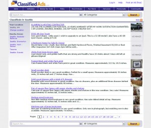 Classifiedads.com Top Classified Ad Site home page full size image
