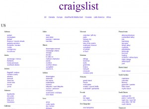 Craigslist.org Top Classified Ad Site home page full size image