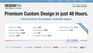 DesignPax.com Banner Ad Design Services home page full size image