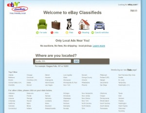 eBayClassifieds.com Top Classified Ad Site home page full size image