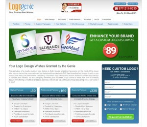 Logo-Genie.com Banner Ad Design Services home page full size image