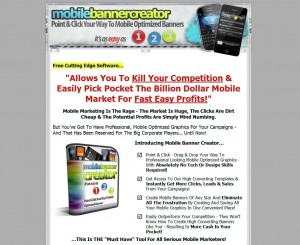 MobileBannerCreator.com Banner Ad Design Software home page full size image