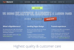 RightBanners.com Banner Ad Design Services home page full size image