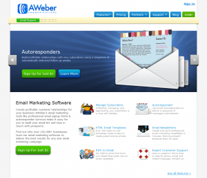 aWeber Email Marketing Software full-size home page image
