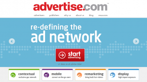 Advertise.com home page full size image