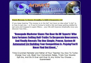 AutomatedListBuilder.com List Building Tutorials home page full size image