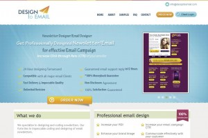 DesigntoEmail.com Newsletter Design Services home page full size image