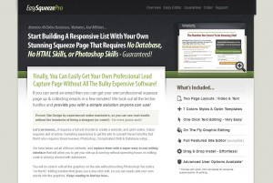 EasySqueezePro.com Squeeze Page Templates home page full size image