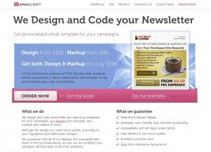 EmailCraft.com Newsletter Design Services home page full size image