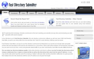FastDirectorySubmitter.com Directory Submission Software home page full size image