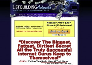 ListBuildingAutomation.com List Building Tutorials home page full size image