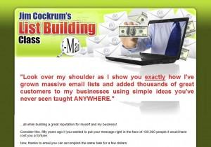 ListBuildingClass.com List Building Tutorials home page full size image