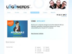 LogoNerds.com Banner Ad Design Service page full size image